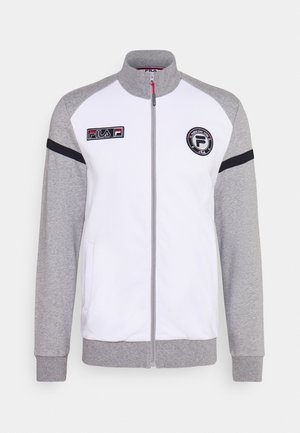 SMUDO - veste en sweat zippée - light grey melange/white