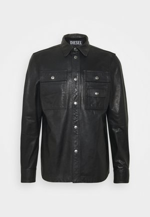 L-MALIK JACKET - Kožená bunda - black
