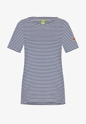 Print T-shirt - navy striped
