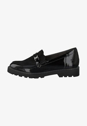 Loafers - blk pat./blk