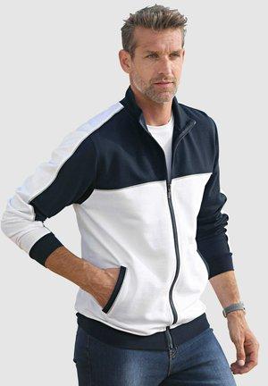 Zip-up sweatshirt - marineblau,weiß