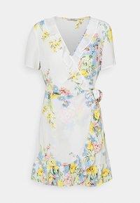 ONLY - ONLALMA LIFE WRAP DRESS - Day dress - cloud dancer/summer botanic - 4