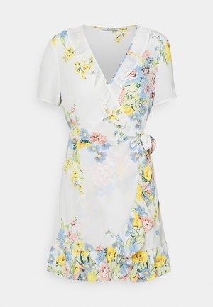 ONLALMA LIFE WRAP DRESS - Day dress - cloud dancer/summer botanic