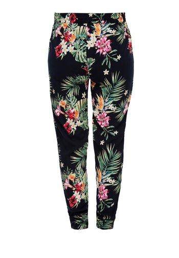 LEICHTE STOFFHOSE - Leggings - Trousers - navy aop flowers