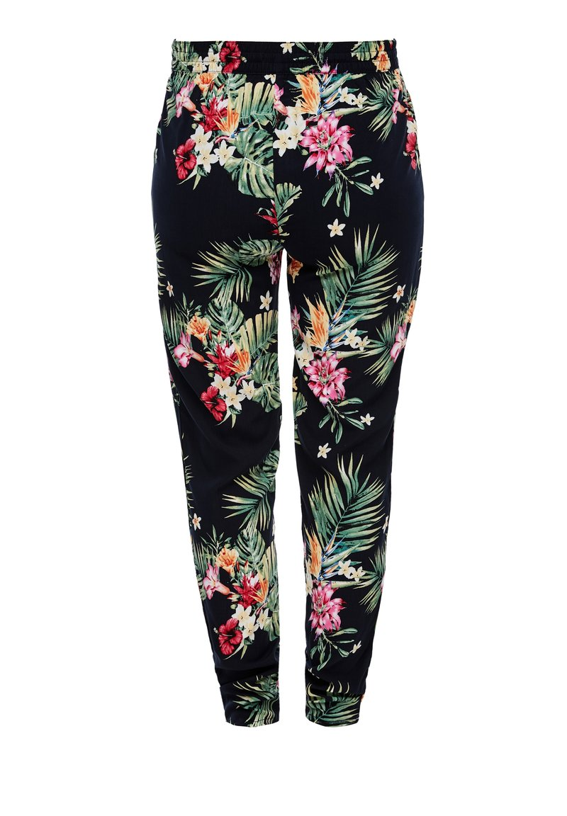 s.Oliver - LEICHTE STOFFHOSE - Leggings - Trousers - navy aop flowers