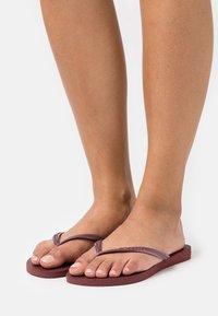 Havaianas - SLIM - T-bar sandals - grape wine - 0