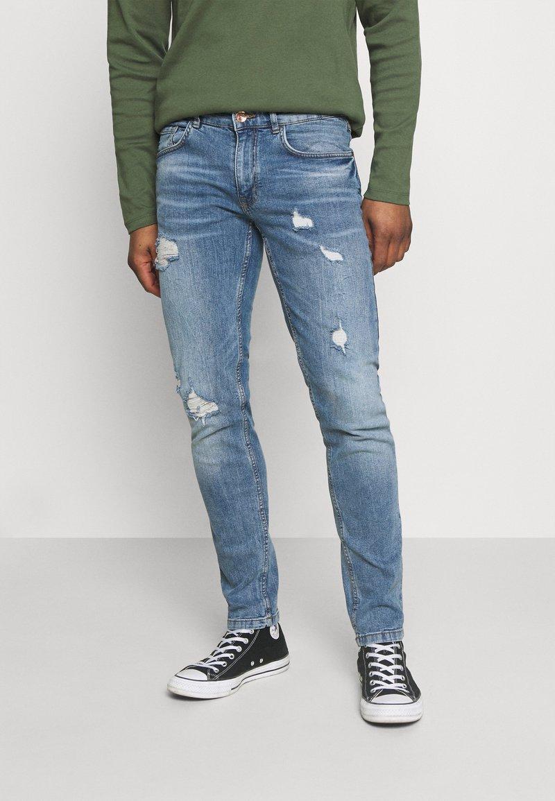 Redefined Rebel - STOCKHOLM DESTROY - Jeans fuselé - sea shore