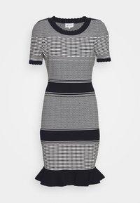 Milly - STRIPED WAVE DRESS - Shift dress - navy multi - 7