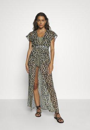 LEOPARD PRINT BEACH DRESS - Beach accessory - black/brown