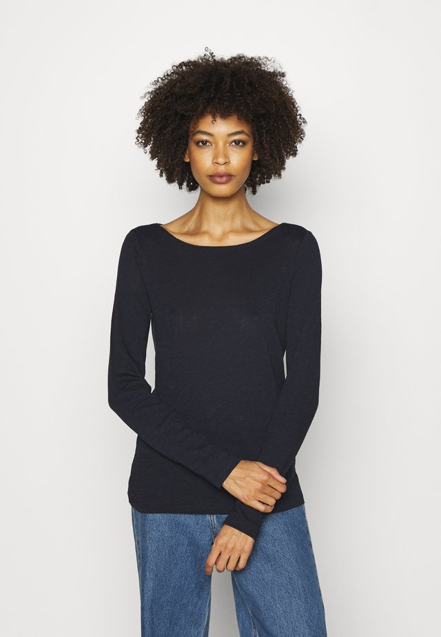 LONG SLEEVE BOAT NECK - Langærmede T-shirts - manic midnight