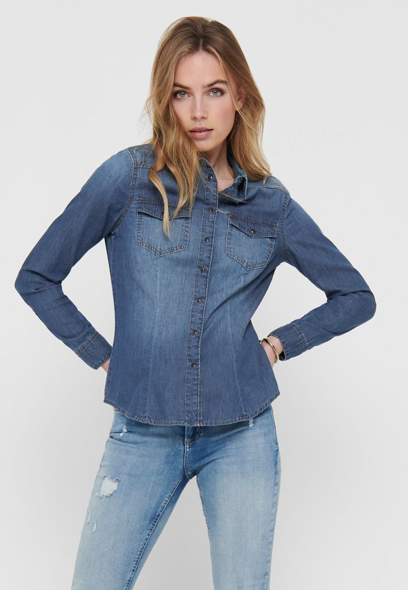 ONLY - Skjorte - medium blue denim
