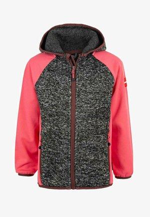 THAMOS - Fleece jacket - dark grey melange
