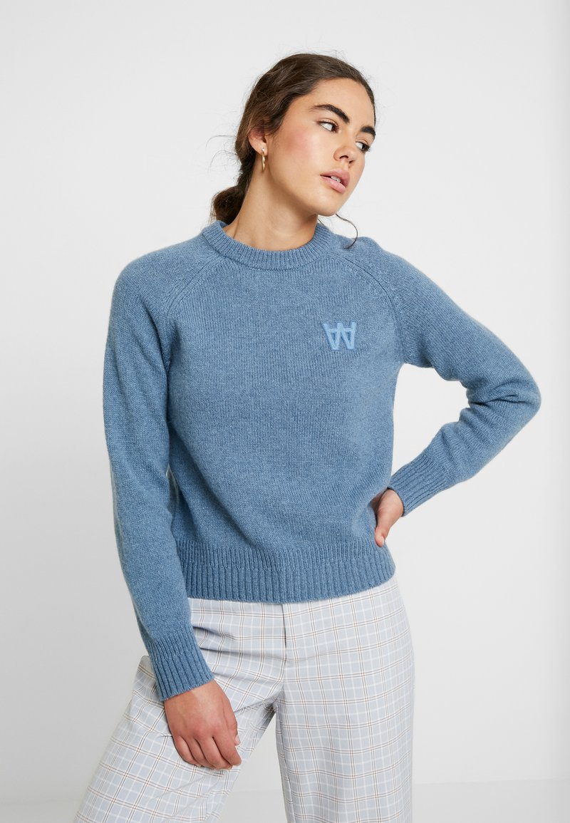 Wood Wood - ASTA  - Jumper - dusty blue