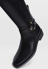 Stradivarius - Cowboy/Biker boots - black - 4