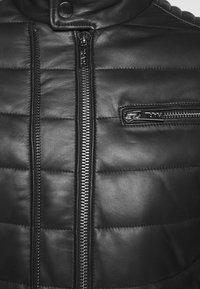 KARL LAGERFELD - BIKER JACKET - Leather jacket - black - 7
