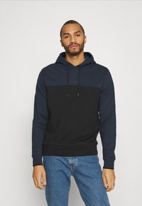 Calvin Klein - COLOR BLOCK HOODIE - Sweat à capuche - blue - 0
