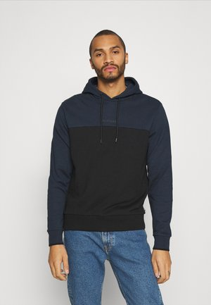 COLOR BLOCK HOODIE - Hoodie - blue