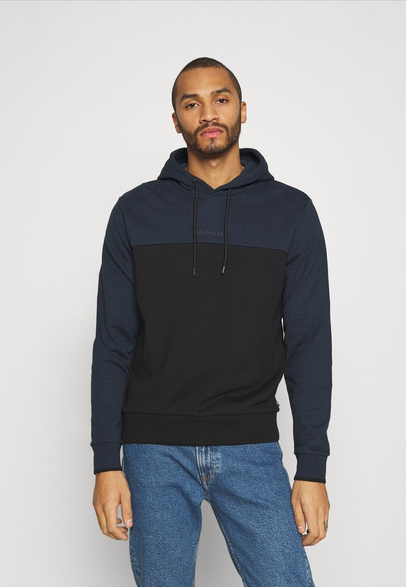 Calvin Klein - COLOR BLOCK HOODIE - Sweat à capuche - blue