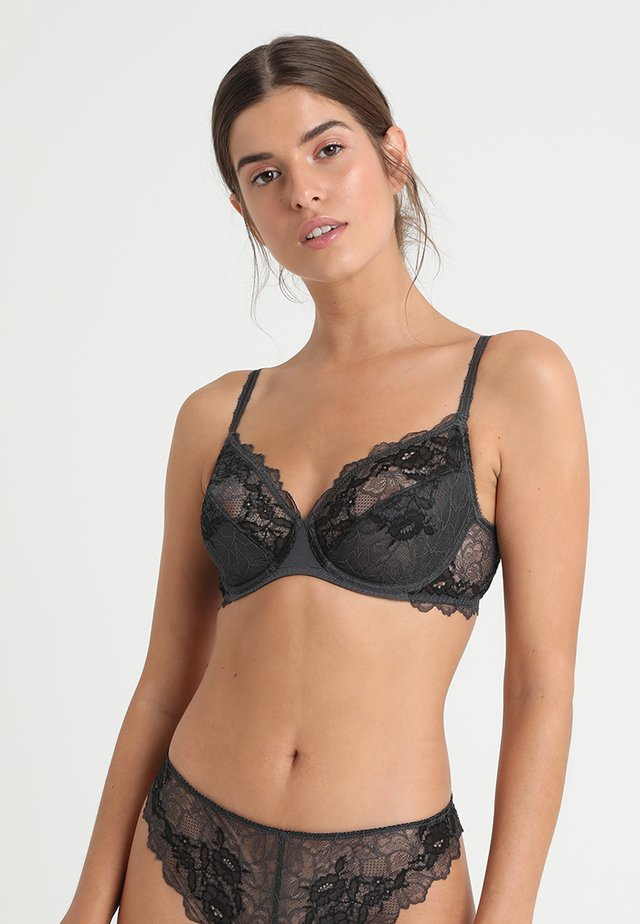 PERFECTION AVERAGE WIRE BRA - Biustonosz z fiszbiną - charcoal