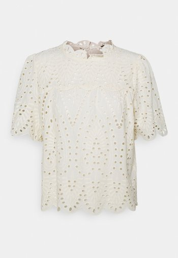 ONLNYLA LIFE ANGLAISE - Print T-shirt - eggnog