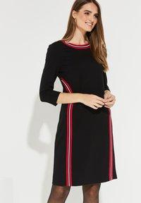 comma casual identity - MIT STREIFEN - Day dress - black - 0