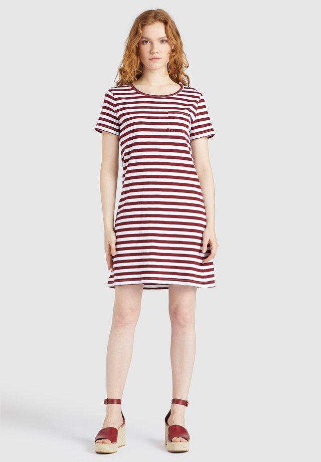 VAISHALI - Jersey dress - rot gestreift