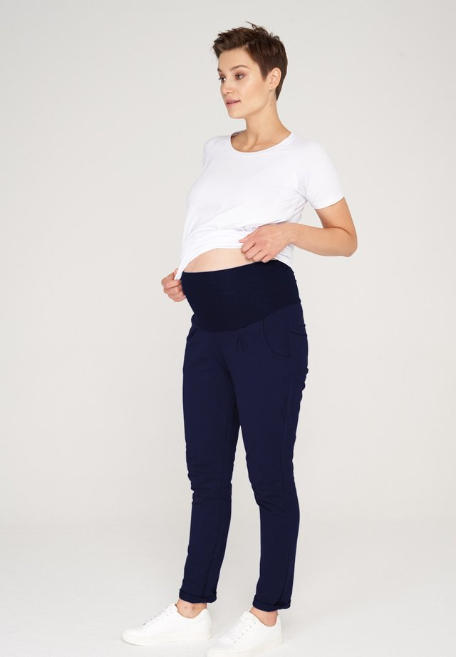 BASIC - Trousers - dark blue