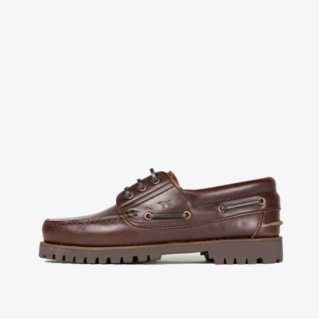 CLASSIC - Boat shoes - Marrón