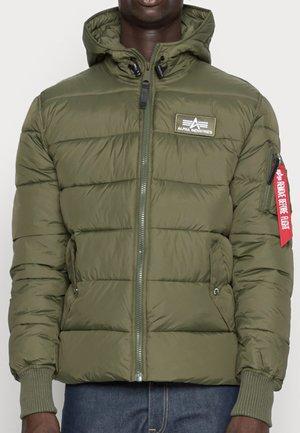 HOODED PUFFER ALPHA - Winter jacket - dark green
