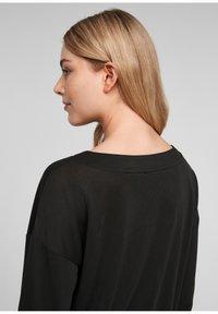 s.Oliver - DROPPED SHOULDER - Long sleeved top - black - 4