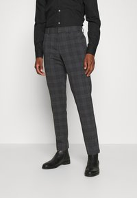 Isaac Dewhirst - BOLD CHECK 3PCS SUIT - Completo - dark blue - 6