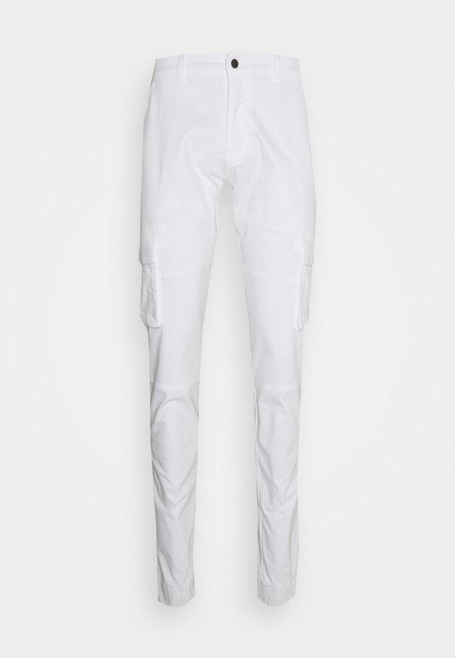 PANT - Pantaloni cargo - white