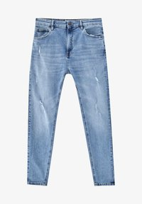 PULL&BEAR - Jeans Tapered Fit - mottled dark blue - 5