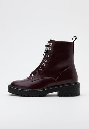 ONLBOLD LACE UP BOOT  - Platform ankle boots - burgundy