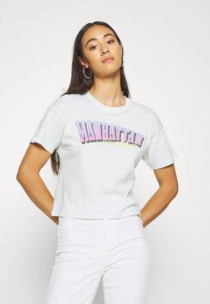 NEW YORK TOUR TEE - Print T-shirt - mint