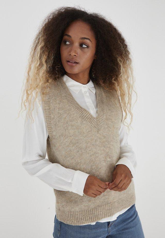 BXMAY - Stickad tröja - cement