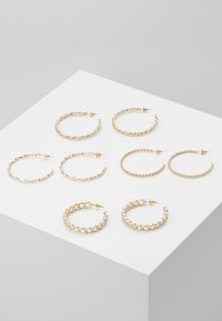 Missguided - CHAIN HOOP 4 PACK - Örhänge - gold-coloured - 0