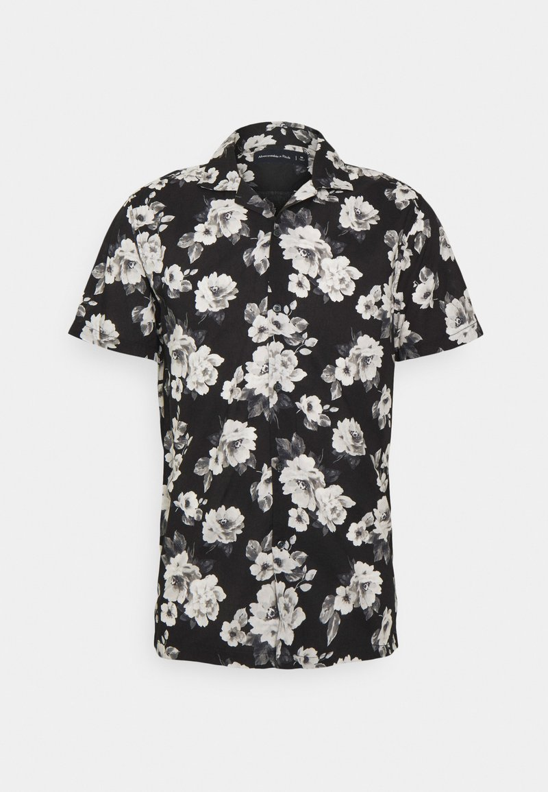 Abercrombie & Fitch - SUMMER RESORT - Shirt - black grounded large scale white