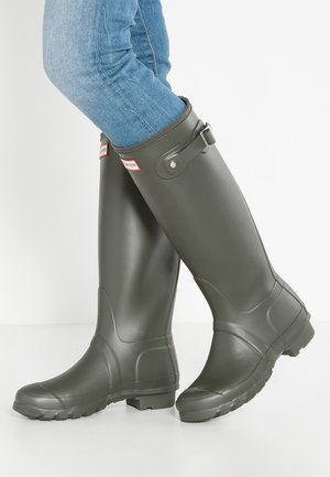 TALL VEGAN - Wellies - dark olive