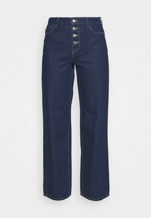 ONLMOLLY BLIFUTTON WIDE LEG - Jean flare - dark blue denim