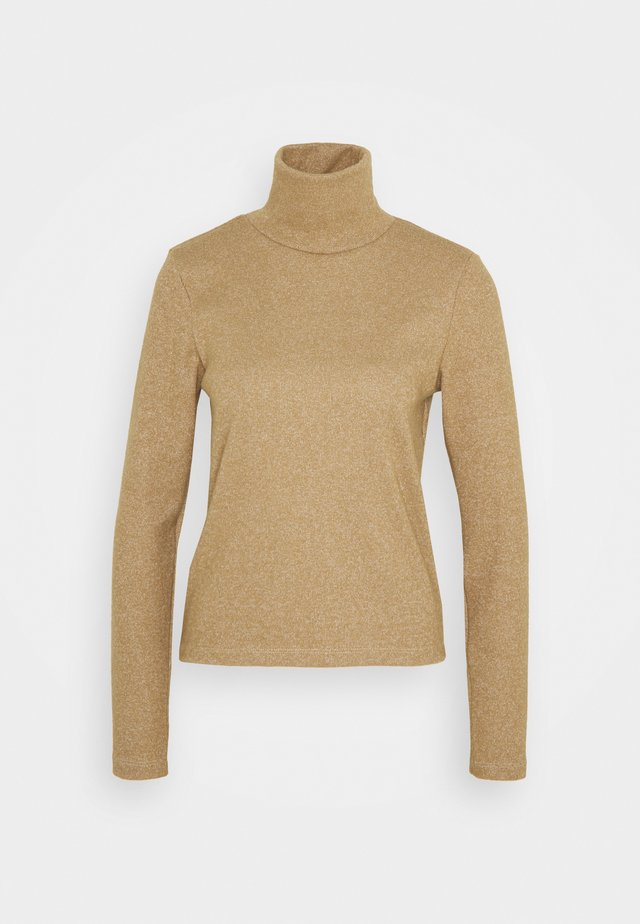 NMMERVE HIGH NECK TOP - Sweter - camel