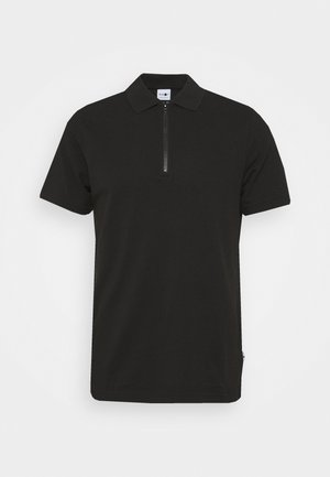 ZIP TEE - Polo shirt - black
