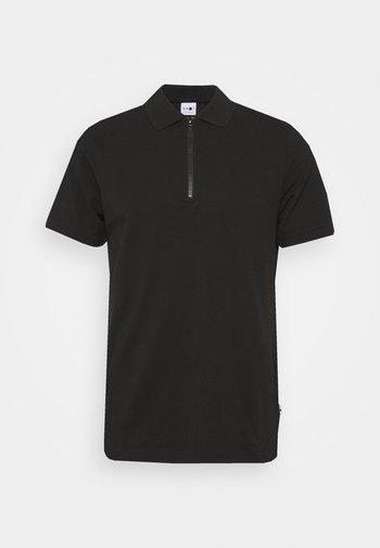 ZIP TEE - Polo shirt - black