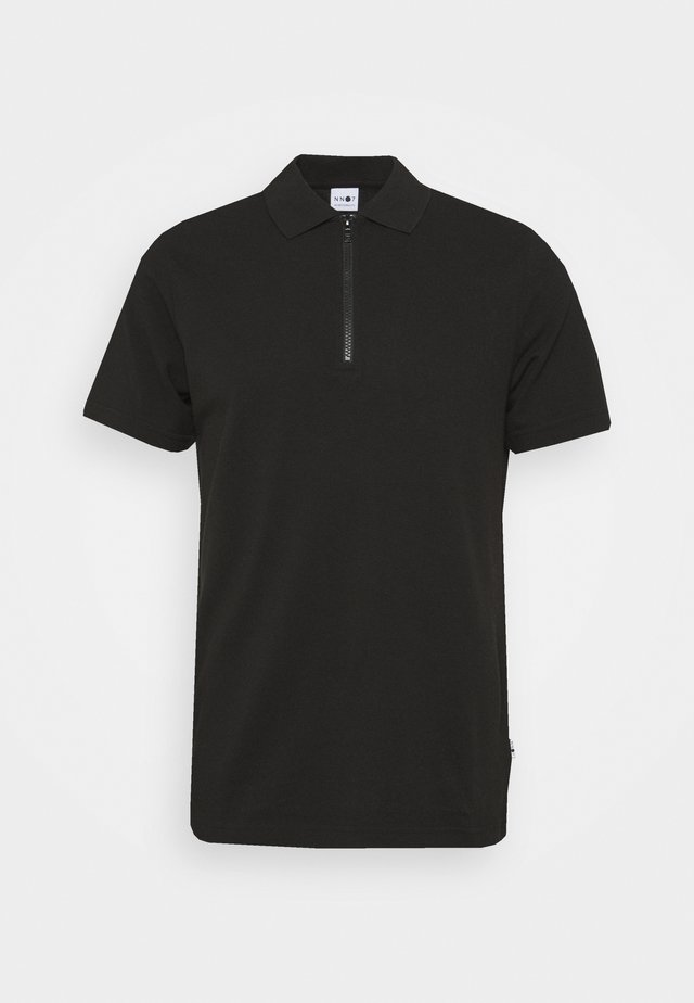 ZIP TEE - Polo - black
