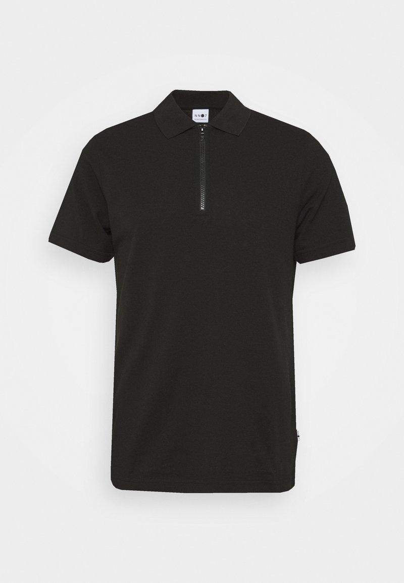 NN07 - ZIP TEE - Polo shirt - black