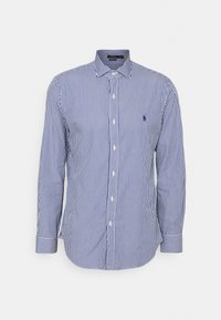 CUSTOM FIT STRIPED POPLIN SHIRT - Shirt - navy/white