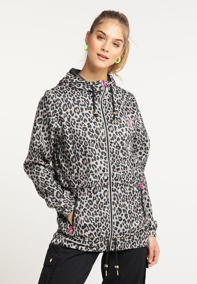 Windbreaker - beige leopard