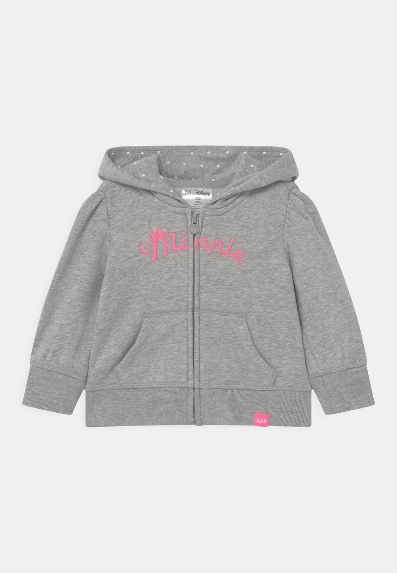 GAP - TODDLER GIRL MINNIE MOUSE - veste en sweat zippée - mottled light grey