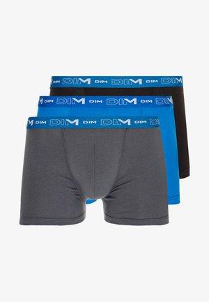 3 PACK - Onderbroeken - grey/oceanic blue/black