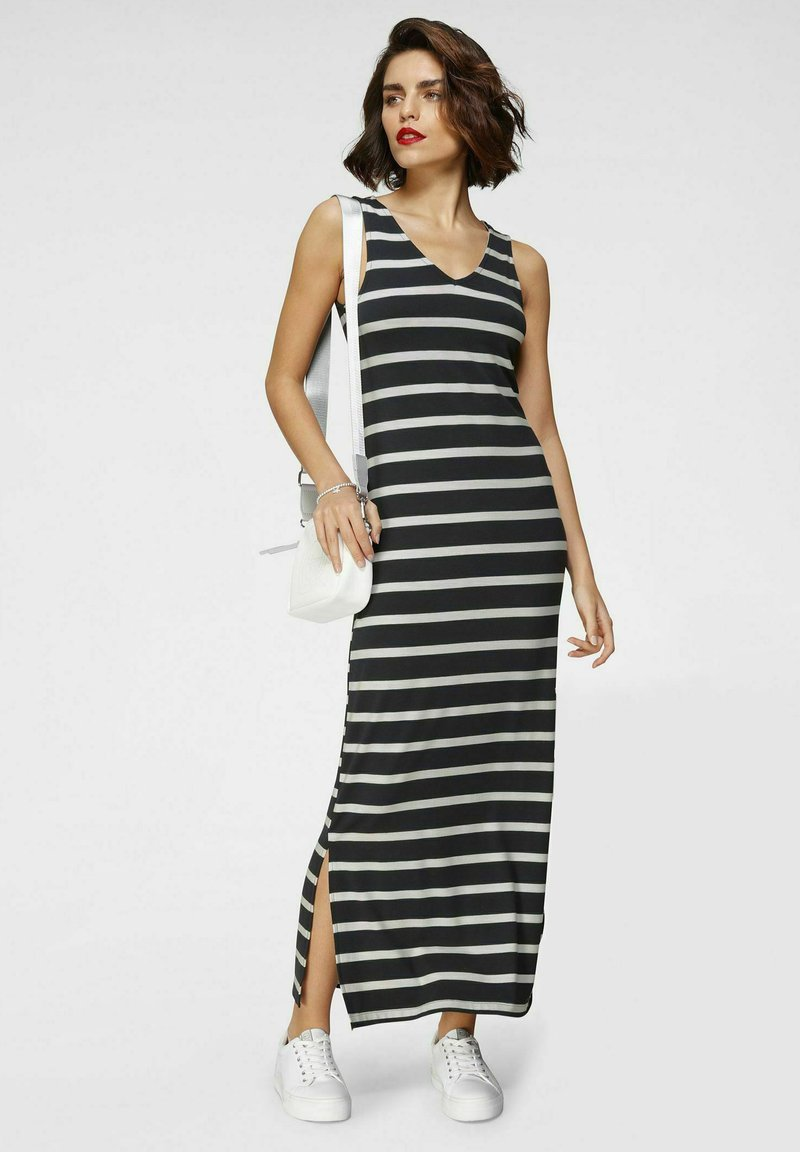 Tamaris - Maxi dress - navy weiß